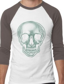 The Best Skull in the World, EVER! (dark) Men's Baseball ¾ T-Shirt