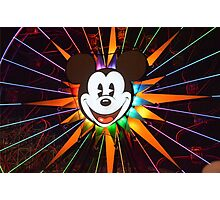 Walt Disney Mickey Mouse Lights Up Photographic Print