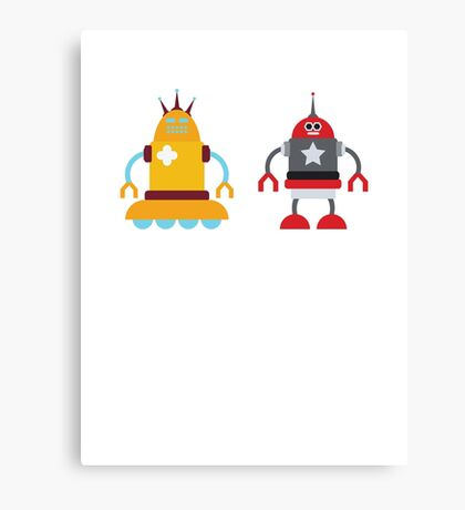 robot love in color Canvas Print