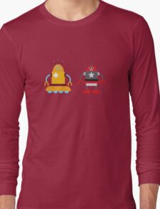 robot love in color Long Sleeve T-Shirt