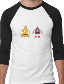 robot love in color Men's Baseball ¾ T-Shirt