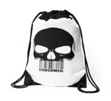 CONSUMER. -black- Drawstring Bag