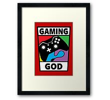 Gaming God Framed Print