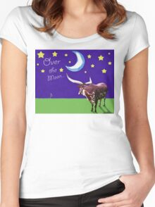 Over the Moon Women's Fitted Scoop T-Shirt