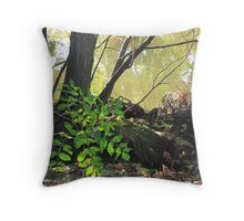 Foliage Along the Banks of The Seine Throw Pillow