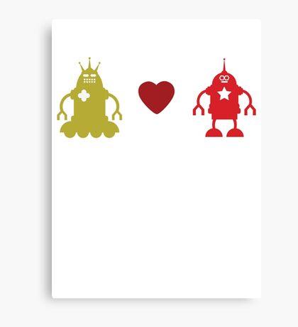 robot love Canvas Print
