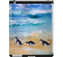 Three Little Penguins Out for a Stroll by Heather Holland iPad Case/Skin