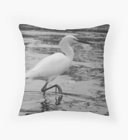 Poised For Prey Throw Pillow