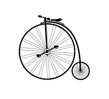 vintage bike  Photographic Print