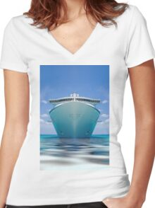 cruise ship IV Women's Fitted V-Neck T-Shirt