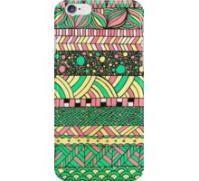 NYC colourful folk abstract pattern illustration iPhone Case/Skin