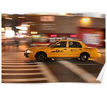 NYC Taxi New York City Cab Poster