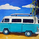 Surf's Up! - acrylic on canvas by ChristineBetts