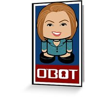 Carly Fiorina Politico'bot Toy Robot 2.0 Greeting Card