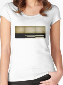 three Women's Fitted Scoop T-Shirt