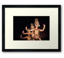 Khmer performing arts. Framed Print
