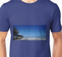 Pigeons At The Beach Unisex T-Shirt