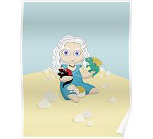 Daenerys Targaryen and her dragons, doll version Poster