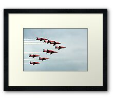 Red Arrows! Framed Print