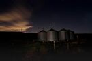 Tin Energy Silos and Windmills in CA by MattGranz