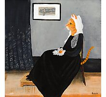Whisker's Mother (or Whistler's Mother as a Cat) Photographic Print
