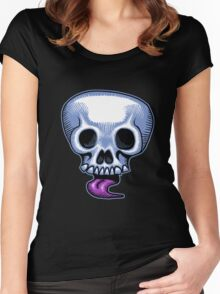 Skull Tongue Women's Fitted Scoop T-Shirt