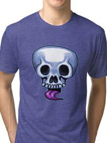 Skull Tongue Tri-blend T-Shirt