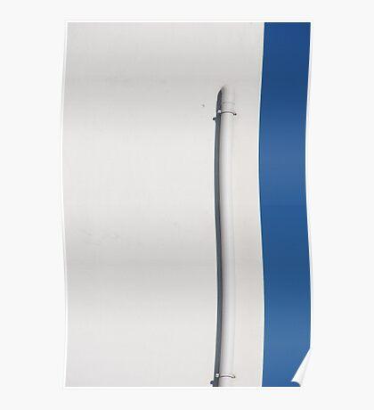 White on blue sky Poster