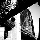 Sydney Harbour Bridge Train Tracks by Ann Evans