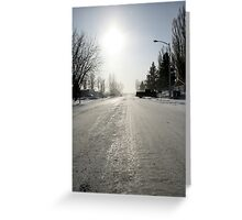 Can you Guess the Temperature Outside??? Greeting Card