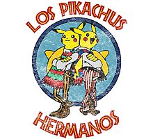 Los Pikachus Hermanos (Distressed Version) Photographic Print