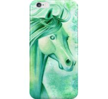 May Emerald Horse Watercolor Painting iPhone Case/Skin