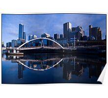 Melbourne Blue Poster