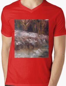 SNOW SCENE Mens V-Neck T-Shirt