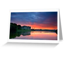 Carew Castle Sunset Greeting Card