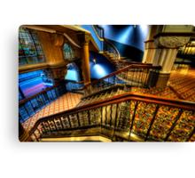 Over The Rails  (Colour)- QVB Building , Sydney - The HDR Experience Canvas Print