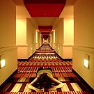 Self Portrait - Flamingo Hallway by Paula Dixon