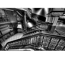 Over The Rails - QVB Building (Monochrome) , Sydney - The HDR Experience Photographic Print