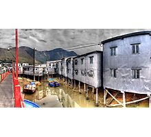 Tin Houses on Stilts in Tai O - Panoramic HDR Photographic Print