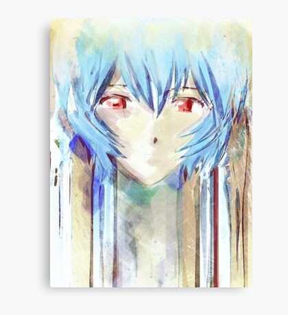 Ayanami Rei Evangelion Anime Tra Digital Painting  Canvas Print