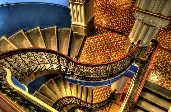 Vertigo - QVB Building (Colour)- The HDR Experience  by Philip Johnson