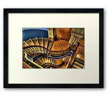 Vertigo - QVB Building (Colour)- The HDR Experience  Framed Print