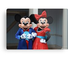 Disney Mickey Mouse Minnie Mouse Disney Mickey and Minnie Metal Print