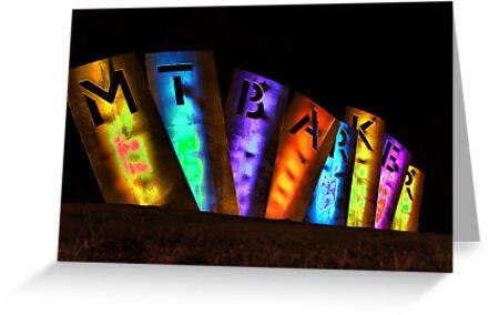 Mount Barker Lights Up by JimFilmer