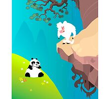 Skunk Fu......Animation Backgrounds by Martin  Hazelgrave