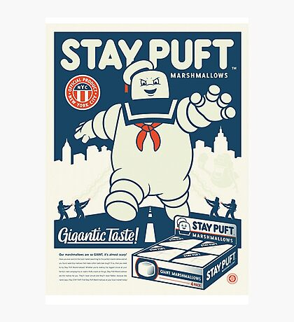 Stay Puft Marshmallow Man Photographic Print