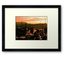 Early Evening Harbour Framed Print