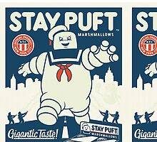 Stay Puft Marshmallow Man by Littlepinkfeets