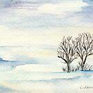Snowy Landscape by Caroline  Lembke