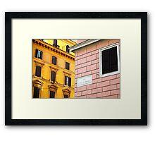 Via Cola di Rienzo Framed Print